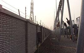 启东怀远发电站电子围栏安装