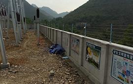 海门沙洲变电站电子围栏安装
